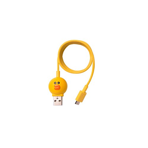Cable micro USB de 5 pines para conectar smartphone  (Line Friends – Silly)