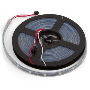 RGB LED Strip SMD5050, WS2811 (black, with controls, IP67, 12 V, 60 LEDs/m, 5 m)