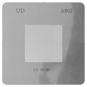BGA Stencil A802, (pitch 0,3 mm, universal, 50*50)