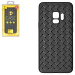 Case Baseus compatible with Samsung G960 Galaxy S9, (black, braided, plastic) #WISAS9-BV01