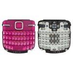 Teclado Nokia C3-00, rosada, caracteres latinos