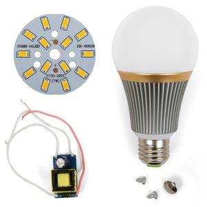 Комплект для сборки светодиодной лампы SQ-Q23 5730 7 Вт (теплый белый, E27), диммируемый