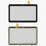 "Сенсорный экран для China-Tablet PC 10,1""; Bravis NB106 3G, NB107 3G; Digma  Optima 10.4 3G, Optima 1200t 3G, 10,1"", 155 мм, 247 мм, 51 pin, емкостный, черный, #YLD-CEGA566-FPC-A0/YLD-CEGA563-FPC-A0/YLD-CEGA565-FPC-A0/YLD-CEGA617-FPC-A0"