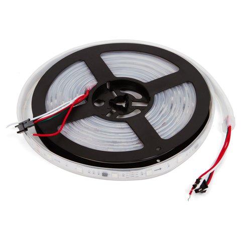 Світлодіодна стрічка RGB SMD5050, WS2811 біла, з управлінням, IP67, 12 В, 30 діодів м, 1 м