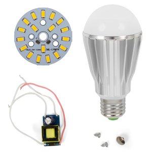 Juego de piezas para armar lámpara LED regulable SQ-Q17 5730 9 W (luz blanca cálida, E27)