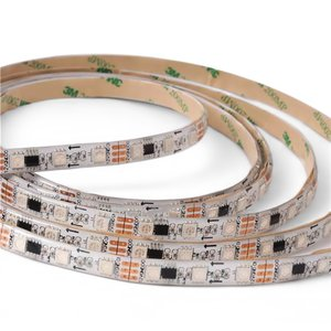 RGB LED Strip SMD5050, WS2811 (white, with controls, IP65, 12 V, 30 LEDs/m, 5 m)